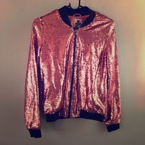 Jackets & Blazers - Pink sequin jacket